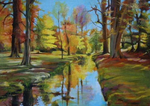 """""""le parc de Balzac"""" huile sur toile 50 cm x 70 cm"""