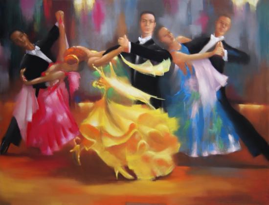 """ le tango "" pastel sec 50 cm x  65 cm"