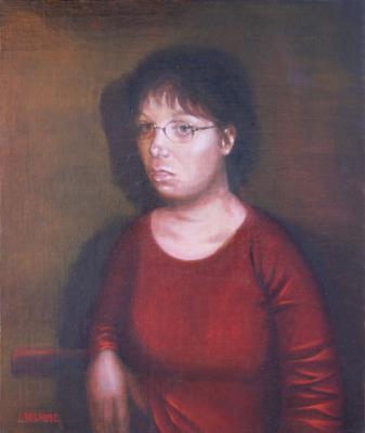 portrait peint à l'huile